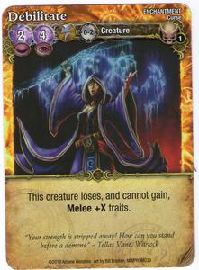 Mage Wars: Debilitate Promo Card