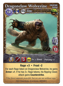 Mage Wars: Dragonclaw Wolverine Promo Card
