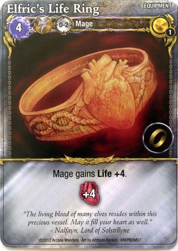 Mage Wars: Elfric's Life Ring Promo Card