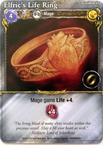 Mage Wars: Elfric's Life Ring Promo Card