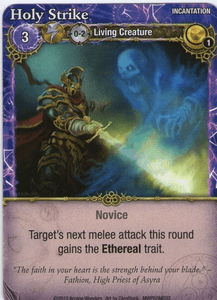 Mage Wars: Holy Strike Promo Card