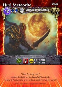 Mage Wars: Hurl Meteorite Promo Card