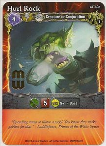 Mage Wars: Hurl Rock Promo Card