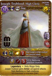 Mage Wars: Joseph Trublood, High Cleric Promo Card