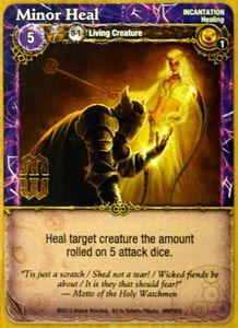 Mage Wars: Minor Heal Promo Card