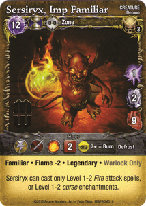 Mage Wars: Sersiryx, Imp Familiar Promo Card