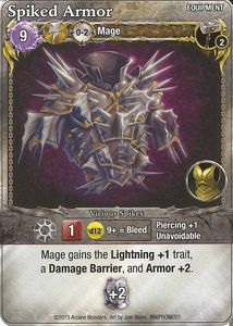 Mage Wars: Spiked Armor Promo Card