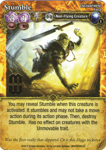 Mage Wars: Stumble Promo Card