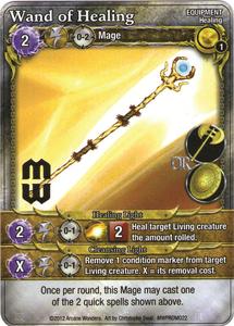 Mage Wars: Wand of Healing Promo Card