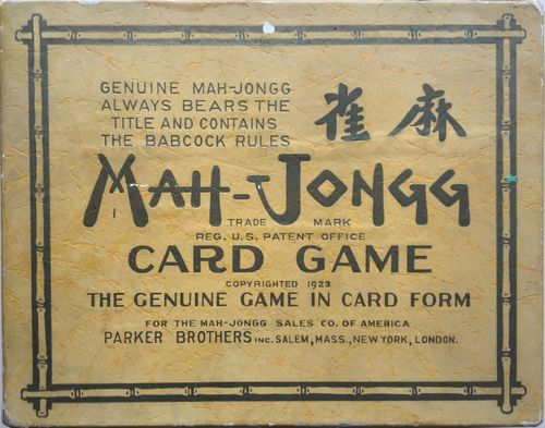 Mah-Jongg Card Game