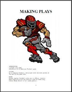 Making Plays