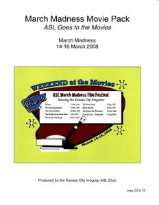 March Madness Movie Pack: ASL Goes to the Movies