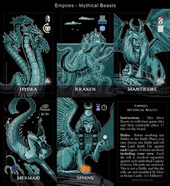 Mare Nostrum: Empires – Mythical Beasts Expansion Tiles