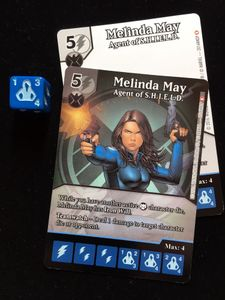 Marvel Dice Masters: Melinda May Promo Cards