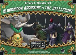 Massive Darkness: Heroes & Monster Set – Bloodmoon Assassins vs The Hellephant