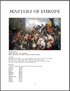 Masters of Europe