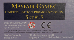 Mayfair Games' Limited Edition Promo Expansion Set #15