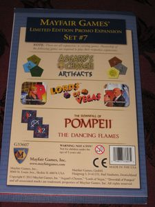 Mayfair Games' Limited Edition Promo Expansion Set #7