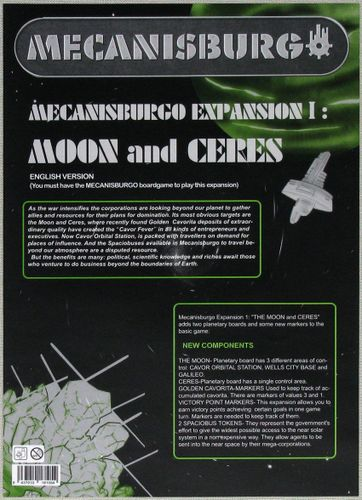 Mecanisburgo: Expansion 1 – Moon and Ceres