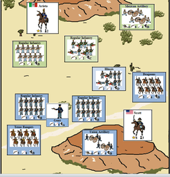 Mexico Ablaze: A Solitaire Game of the Mexican-American War (1846-1848).