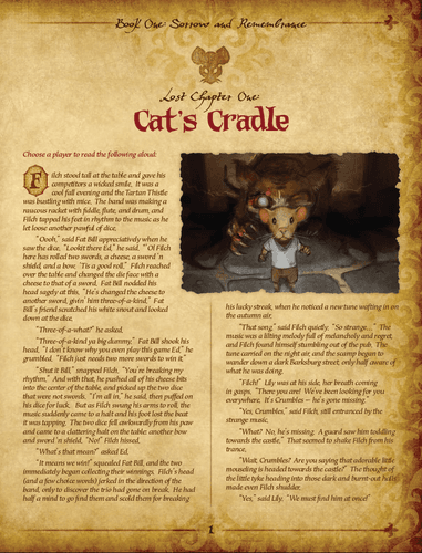 Mice and Mystics: Lost Chapter – Cat's Cradle