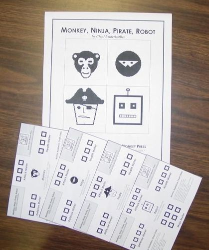 Monkey, Ninja, Pirate, Robot