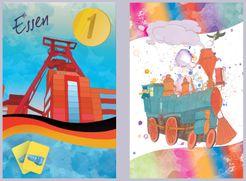 Moscow to Paris: Essen & Happy Train promo cards