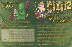 Munchkin Cthulhu 2 Kult-Mitgliedsausweis
