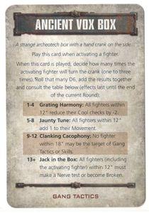 Necromunda: Underhive – Ancient Vox Box Tactics Card