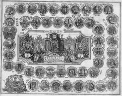 Neu-erfundene Historisch-Chronologische Spiel-Tafel zur Erlernung der Teutschen Reichs-Historia nach der Regierungs-Folge der Römisch-Teutschen Kayser