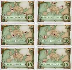 New destination tickets for TtR Europe (fan expansion for Ticket to Ride)