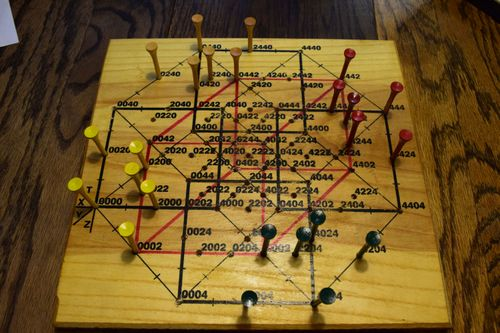 Noonka Bored 4D game board