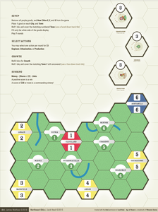 North-East Ohio: Solitaire map (fan expansion to Age of Steam)