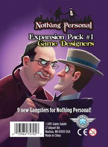 Nothing Personal Expansion Pack #1: Game Designers