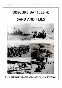 Obscure Battles 4: Sand and Flies – The Mesopotamian Campaign in WW1