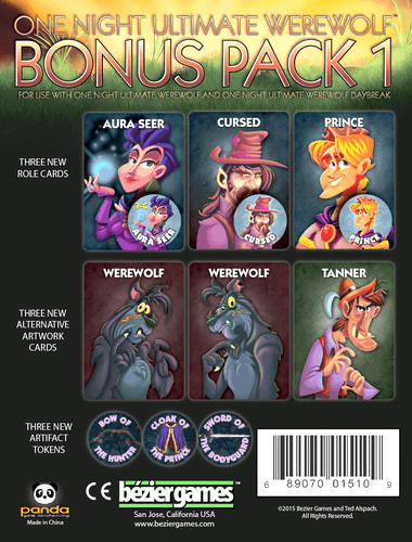 One Night Ultimate Werewolf: Bonus Pack 1