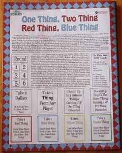 One Thing, Two Thing, Red Thing, Blue Thing