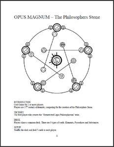 Opus Magnum, The Philosopher's Stone