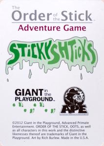 Order of the Stick Adventure Game: Sticky Shticks