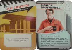 Pandemic: Gen Con 2016 Promos – Z-Force Team Member/Game Convention