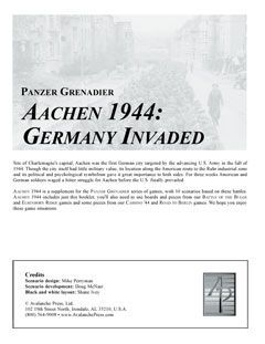 Panzer Grenadier: Aachen 1944 – Germany Invaded