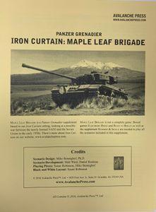 Panzer Grenadier: Iron Curtain – Maple Leaf Brigade