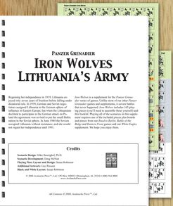 Panzer Grenadier: Iron Wolves – Lithuania's Army