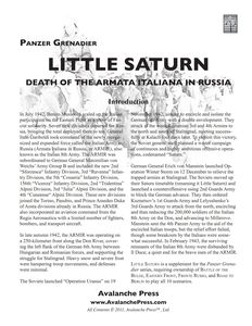 Panzer Grenadier: Little Saturn – Death of the Armata Italiana in Russia