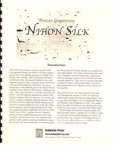 Panzer Grenadier: Nihon Silk
