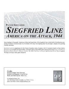 Panzer Grenadier: Siegfried Line – America on the Attack, 1944