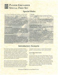 Panzer Grenadier: Special Free Set