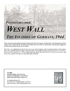 Panzer Grenadier: West Wall