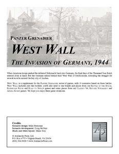 Panzer Grenadier: West Wall