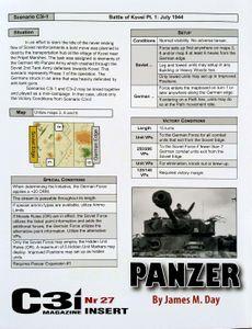 Panzer (second edition): C3i #27 Scenarios